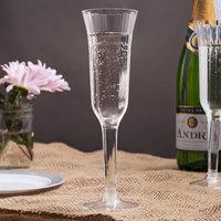 Visions 5 oz. Clear 2-Piece Plastic Champagne Flute - 120/Case