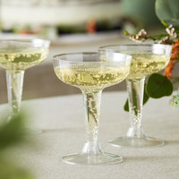 Visions 4 oz. Clear 2-Piece Plastic Champagne Glass - 20/Pack