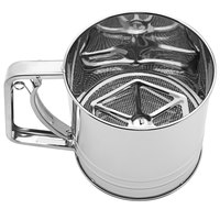 4 Cup Stainless Steel Trigger Action Flour / Powdered Sugar Sifter