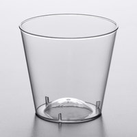 Choice 1 oz. Clear Plastic Shot Glass - 50/Pack