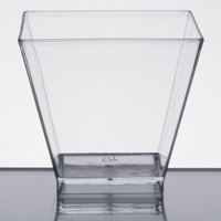 Choice 2 oz. Clear Square Plastic Shot Glass - 320/Case
