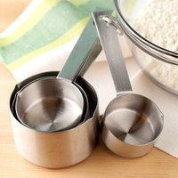Tablecraft 725 4-Piece Stainless Steel Heavy Weight Measuring Cup Set