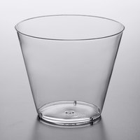 Choice 9 oz. Clear Hard Plastic Tumbler - 500/Case
