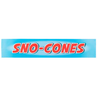 Carnival King SCMLABEL Sno-Cones Decal