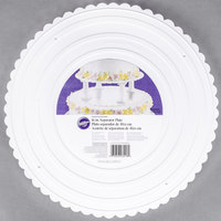 Wilton 302-16 Decorator Preferred Round Scalloped Edge Cake Separator Plate - 16 inch