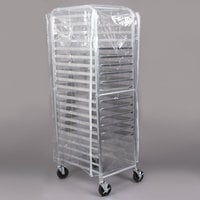 Regency 20 Pan End Load Full Height Bun / Sheet Pan Rack with Cover and 12 Pans - Unassembled