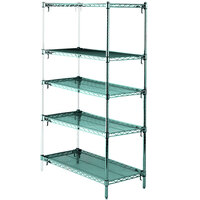 Metro 5AA347K3 Stationary Super Erecta Adjustable 2 Series Metroseal 3 Wire Shelving Add On Unit - 18 inch x 42 inch x 74 inch
