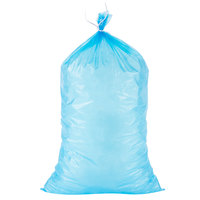 Choice 10 lb. Blue Plastic Ice Bag - 1000/Case