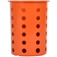 Steril-Sil RP-25-ORANGE Orange Plastic Straight Sided Flexible Silverware Cylinder
