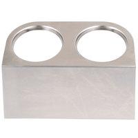 Steril-Sil HKS-2 2-Hole Cantilever Flatware Cylinder Holder