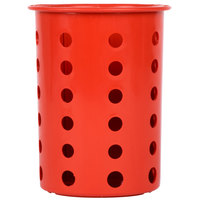 Steril-Sil RP-25-RED Red Perforated Plastic Flatware Cylinder