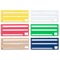 Edlund KR-50I HACCP Colored Insert Set for KR-50 Knife Racks   - 6/Set