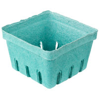 EcoChoice 1 Pint Green Molded Pulp Berry / Produce Basket   - 25/Pack