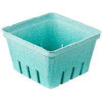 EcoChoice 1 Qt. Green Molded Pulp Berry / Produce Basket - 25 / Pack