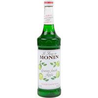 Monin 750 mL Premium Granny Smith Apple Flavoring / Fruit Syrup
