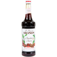 Monin 750 mL Premium Chocolate Cherry Flavoring Syrup