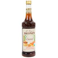Monin 750 mL Organic Caramel Flavoring Syrup