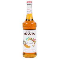 Monin 750 mL Premium Caramel Flavoring Syrup