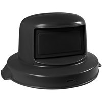55 Gallon Black Dome Top Trash Can Lid