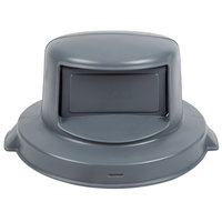 Continental 5550GY Huskee 55 Gallon Gray Dome Top Trash Can Lid