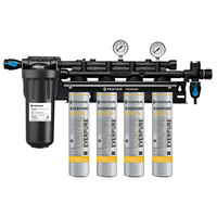 Everpure EV9327-44 Insurice PF Quad 4FC-S Water Filtration System with Pre-Filter - .5 Micron and 10 GPM