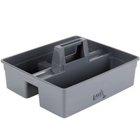 Lavex Janitorial Large Cleaning Caddy, 3-Compartment Gray, 15.25L x 13.25W