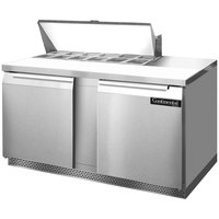 Continental Refrigerator SW60-12-FB 60 inch 2 Door Front Breathing Refrigerated Sandwich Prep Table