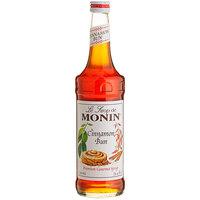 Monin 750 mL Premium Cinnamon Bun Flavoring Syrup