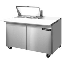 Continental Refrigerator SW48-8C 48 inch 2 Door Cutting Top Refrigerated Sandwich Prep Table
