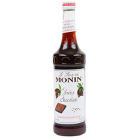 Monin 750 mL Premium Swiss Chocolate Flavoring Syrup