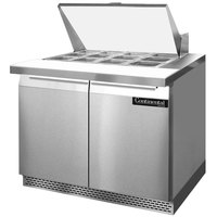 Continental Refrigerator SW36-12M-FB 36 inch 2 Door Mighty Top Front Breathing Refrigerated Sandwich Prep Table