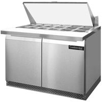 Continental Refrigerator SW48-18M-FB 48 inch 2 Door Mighty Top Front Breathing Refrigerated Sandwich Prep Table