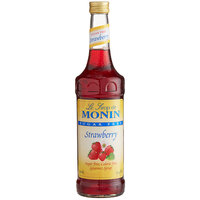 Monin 750 mL Sugar Free Strawberry Flavoring / Fruit Syrup