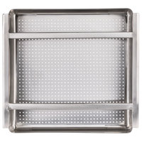 Regency 19 1/2 inch x 19 1/2 inch x 4 inch 18-Gauge Stainless Steel Scrap / Pre-Rinse Basket with Stainless Steel Slides