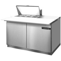 Continental Refrigerator SW48-8C-FB 48 inch 2 Door Cutting Top Front Breathing Refrigerated Sandwich Prep Table