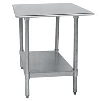 Advance Tabco TT-300-X 30 inch x 30 inch 18 Gauge Stainless Steel Work Table with Galvanized Undershelf