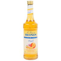 Monin 750 mL Sugar Free Peach Flavoring / Fruit Syrup