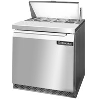 Continental Refrigerator SW32-8-FB 32 inch 1 Door Front Breathing Refrigerated Sandwich Prep Table