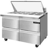 Continental Refrigerator SW48-18M-D 48 inch 4 Drawer Mighty Top Refrigerated Sandwich Prep Table