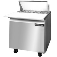 Continental Refrigerator SW32-8C 32 inch 1 Door Cutting Top Refrigerated Sandwich Prep Table