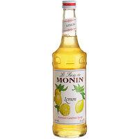Monin 750 mL Premium Lemon Flavoring / Fruit Syrup