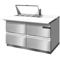 Continental Refrigerator SW48-8C-FB-D 48 inch 4 Drawer Cutting Top Front Breathing Refrigerated Sandwich Prep Table