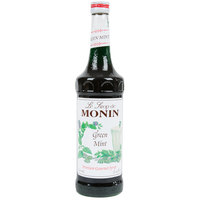 Monin 750 mL Premium Green Mint Flavoring Syrup