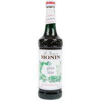 Monin 750 mL Premium Green Mint Flavoring Syrup