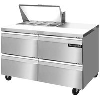 Continental Refrigerator SW48-8-D 48 inch 4 Drawer Refrigerated Sandwich Prep Table