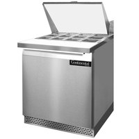 Continental Refrigerator SW27-12M-FB 27 inch 1 Door Mighty Top Front Breathing Refrigerated Sandwich Prep Table
