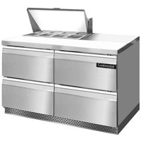 Continental Refrigerator SW48-8-FB-D 48 inch 4 Drawer Front Breathing Refrigerated Sandwich Prep Table