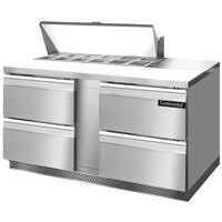 Continental Refrigerator SW60-12-FB-D 60 inch 4 Drawer Front Breathing Refrigerated Sandwich Prep Table