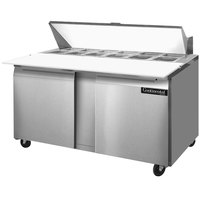 Continental Refrigerator SW60-16C 60 inch 2 Door Cutting Top Refrigerated Sandwich Prep Table