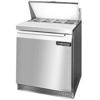 Continental Refrigerator SW27-8-FB 27 inch Front Breathing Sandwich / Salad Prep Refrigerator